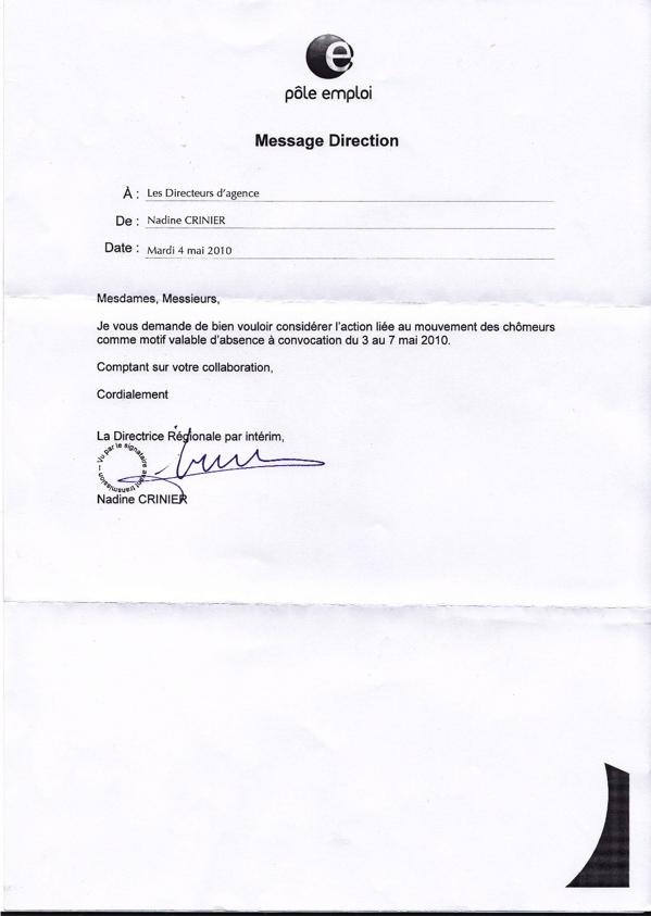 Cip Idf Greve Des Chomeurs Absence A Convocation Autorisee Apres